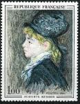 Stamps : Europe : France :   Modelo de Augusto Renoir