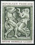 Stamps : Europe : France :  La danza