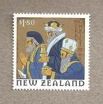 Stamps New Zealand -  Navidades