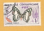 Stamps Africa - Central African Republic -  Mariposa, Charaxe nobilis