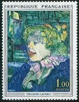 Stamps : Europe : France :  Toulouse-Lautrec