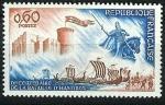 Stamps : Europe : France :   Castillo y estatua