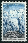 Stamps : Europe : France :   Mont-Blanc