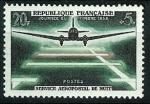 Stamps : Europe : France :  Servicio aeropostal de noche