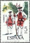 Stamps Europe - Spain -  uniformes militares