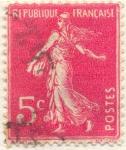 Sellos de Europa - Francia -  Republique française magenta