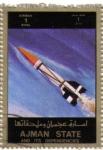 Sellos de Asia - Emiratos Árabes Unidos -  AJMAN - Espacial