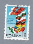 Sellos del Mundo : Europa : Polonia :  Banderas