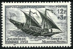 Stamps : Europe : France :  Falúa del siglo XVIII