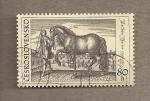 Stamps Czechoslovakia -  Paje llevando caballo por M. Merian