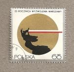 Sellos de Europa - Polonia -  25 Aniv. de la liberación de Varsovia