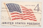 Stamps United States -  july 4