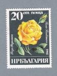 Stamps Bulgaria -  Rosa amarilla