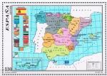 "Stamps of the world : Spain :  Edifil  3459  Mapa oficial del Estado Autonómico  "" Mapa oficial del Estado con las divisiones terri"