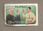 Stamps Philippines -  Toma posesión presidente Macapagal