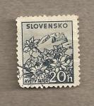 Stamps Slovakia -  Flores de montaña