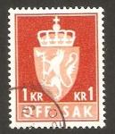 Sellos de Europa - Noruega -  corona y león en escudo