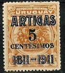 Stamps : America : Uruguay :   Cent.batalla Las Piedras