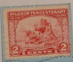 Stamps : America : United_States :  Landing Of The Pilgrims