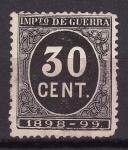 Stamps Spain -  Cifras. Impuesto de guerra