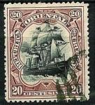 Stamps : America : Uruguay :  Barco de guerra