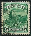Stamps : America : Uruguay :  Locomotora