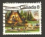 Sellos del Mundo : America : Canadá : tribu de algonquinos