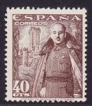 Stamps Spain -  Franco y Castillo de la Mota