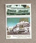 Stamps Singapore -  Cines de ayer