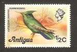 Stamps America - Antigua and Barbuda -  pájaro, colibrí