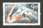 Sellos del Mundo : Africa : Nigeria : pájaro, loros