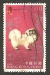 Sellos del Mundo : Asia : Hong_Kong : animal de zodiaco chino, un perro