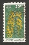 Stamps : Asia : India :  árbol, amaltaas, caña fistula