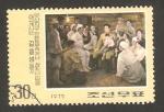 Sellos de Asia - Corea del norte -  reunión familiar