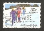 Stamps : Oceania : Australia :  Esquiando en la nieve