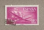 Sellos de Europa - España -  Super Constellation y caravela