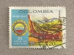 Stamps Colombia -  25 años del automóvil club