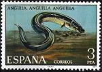 Sellos de Europa - España -  2405 Fauna Hispánica. Anguila.