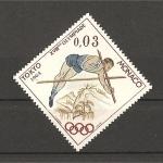 Stamps Monaco -  Tokyo 1964