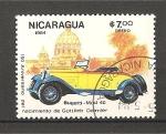 Sellos de America - Nicaragua -  Automoviles antiguos y vistas.