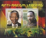 Stamps Africa - Republic of the Congo -  Congo 2008 Sello Nelson Mandela y Martin Luther King Anti Racismo
