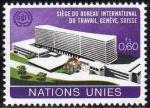 Stamps America - ONU -  ONU GINEBRA 1974 37 Sello Nuevo ** Edificio Oficina Internacional del Trabajo 0,60Fs
