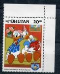 Stamps Asia - Bhutan -  50 cumpleaños de Donald