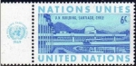 Stamps America - ONU -  ONU NEW YORK 1969 194 Sello Nuevo ** Edificio Naciones Unidas Chile 6c