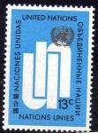 Sellos de America - ONU -  ONU NEW YORK 1969 196 Sello Nuevo ** Emblema UN 13c