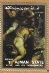 Stamps Asia - United Arab Emirates -  AJMAN - Pinturas de mujer