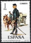 Sellos de Europa - España -  2423 Uniformes.  Oficial de Administración Militar. 1875.