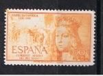 Sellos del Mundo : Europa : España : Edifil  1098  V Cent. del nacimiento de Isabel la Católica.