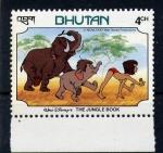 Stamps Asia - Bhutan -  El libro de la selva