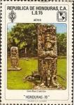 Stamps Honduras -  Estela Maya C, lado este